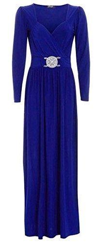 Generic Damen Maxikleid Kleid, Einfarbig Blau - Königsblau