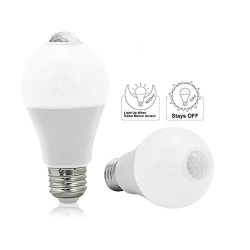 BRTLX E27 Lampadina LED con Sensore Lampadine A60 13W Bianca Calda 3000K Automatico On/Off per Veranda Garage Corridoio 2 Pezzis[Classe di Efficienza Energetica A+]