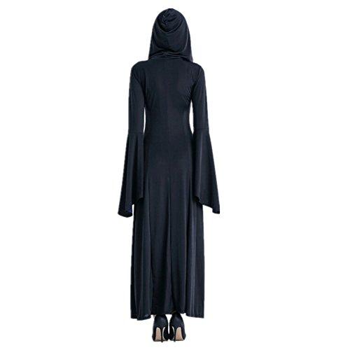 Imagen de disfraz de bruja para mujer vestido de vampiresa reina cosplay halloween purple alternativa