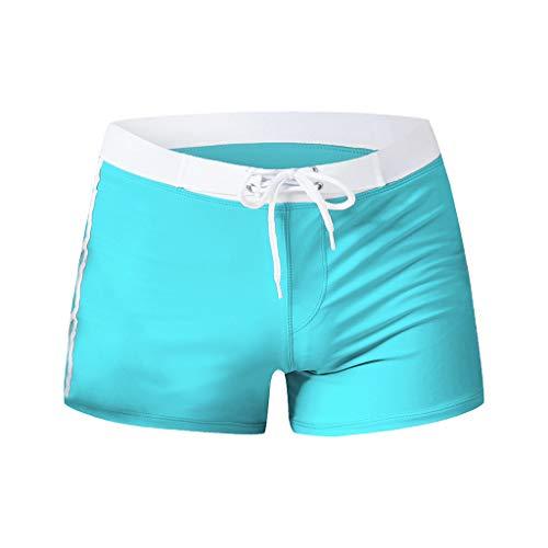 iYmitz Herren Schnelltrocknend Badeanzug, Badehose Sommer Mode Briefs Strand Shorts Beachshorts Badeshorts Sporthose(Schwarz,EU-38/CN-M)