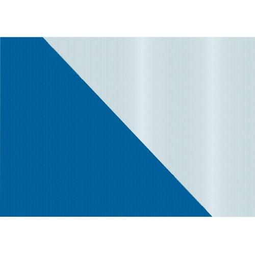 Susy Card 11274644 Packpapier, beidseitig bedruck, 2 m, blau/silber