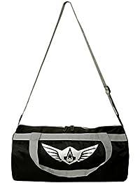 Auxter Polyester Gym Bag, Black