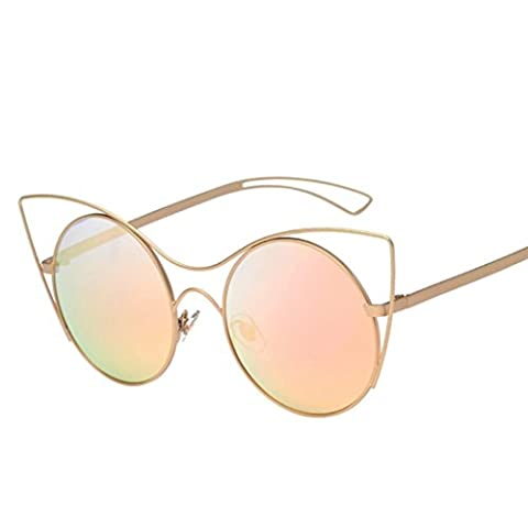 Toamen Damen Sonnenbrille mehrfarbig leopard Gr. S, rose