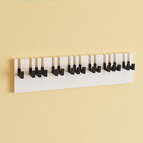 Tablette Collier de piano Ensemble d'étagère murale Support de tête de protection créatif Étagère flottante à montage mural (assemblage de bricolage et charge de 10 kg) ( Couleur : Blanc )