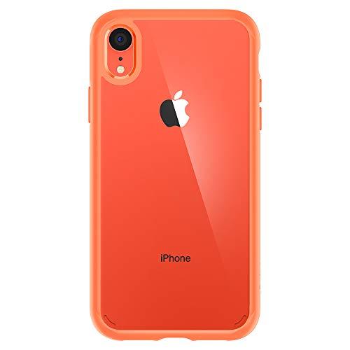 Spigen Coque iPhone XR [Ultra Hybrid] Coral, Protection Coin AIR Cushion, Bumper Renforcé en Silicone, Dos Rigide en PC Compatible avec iPhone XR