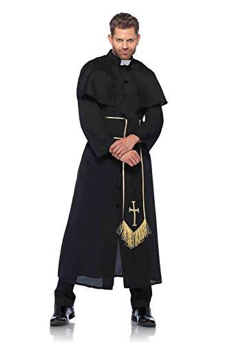 riest Kostüm Set, 2-teilig, Größe XL, schwarz ()
