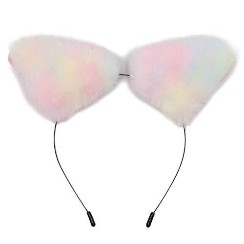 PinkLu Stirnband Damen Farbiges PlüSchkatzenohren-Stirnband-Set Elegantes Temperament Wilde Mode Neuer HeißEr 4-Farbiges Stirnband