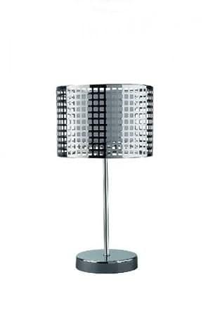 tischleuchte modern silber tischlampe deko tisch leuchte beleuchtung. Black Bedroom Furniture Sets. Home Design Ideas