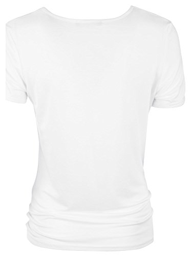 Loomiloo Tshirt Shirt Lover Frontprint Damen T-Shirt Top Oberteil Weiß