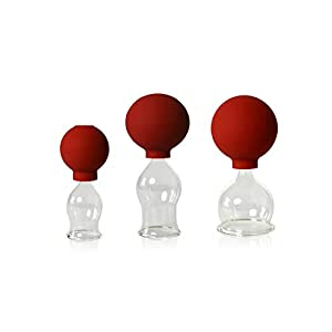 Lauschaer Glas 3er Schrpfglas Set Mit Ball 25 35 45mm Zum Professionellen Medizinischen Feuerlosen Schrpfen Mundgeblasen Handgeformt Schrpfglas Schrpfglser Original