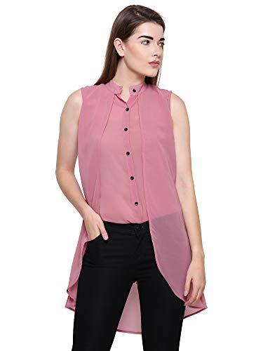 Mizago Women's Casual-Elegant Chiffon Layered Sleeveless Blouse,Elegant Retro High-Low Wine/Olive Top Women...