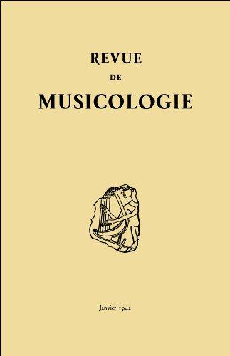 Revue de musicologie tome 24, n° 1 (1941)