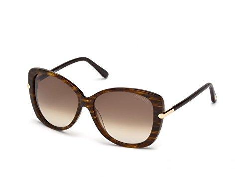 Tom Ford Sonnenbrille FT-LINDA 0324S-68F (59 mm) rot