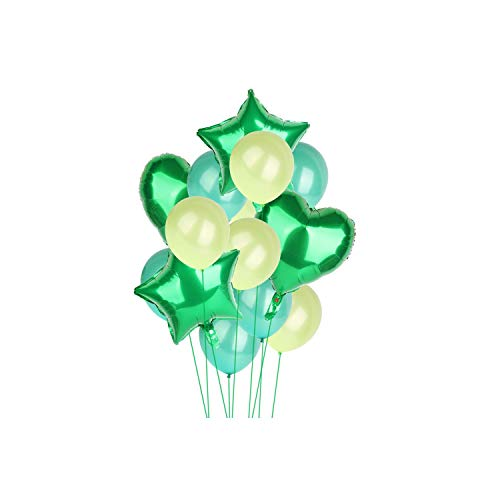 Archiba 14pcs 12inch 18inch Multi Air Balloons Happy Birthday Party Helium Balloon Decorations Wedding Festival Party Supplies,Green