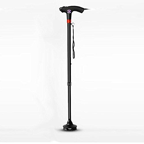 XINZ Ausziehbarer Gehstock Gehhilfe Wanderstock Krückstock LED-Lampe,selbsttragend Aus Ultra-leichtem Aluminium, Mit Knöchel Und Extra Großem Handgriff 73cm-96cm