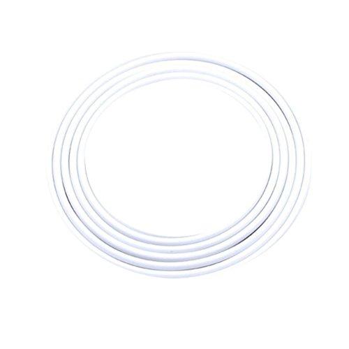 VORCOOL Autotür Kantenschutz Schutz Gummi Selbstklebend Gummidichtung Unsichtbar für Auto Tür Fenster 5 M (Weiß)