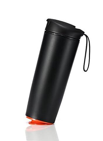 Chekue Travel Mug Tumbler Free Fall Over Thermos Insulated Coffee & tea Mug Suction Mug 540ml, Black by Chekue
