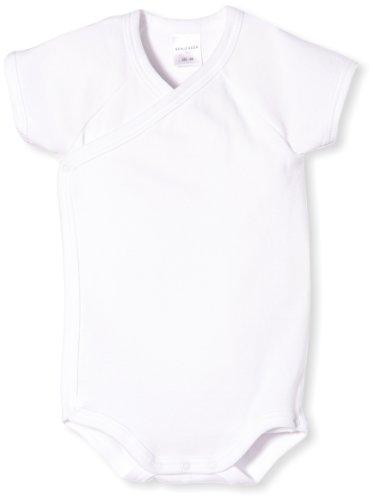 *Schiesser Baby – Jungen Body Wickel 1/2 130928-100, Gr. 56 (Herstellergröße: 1M), Weiß (100)*