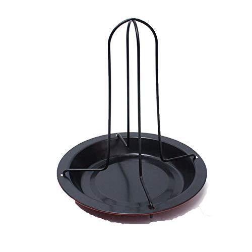 CHUNXU Grillständer für Küche und Außenbereich, Hühner-Enten-Halterung, Grillständer für Grill, antihaftbeschichtet, Karbonstahl, Mehrfarbig (Huhn Cookie)