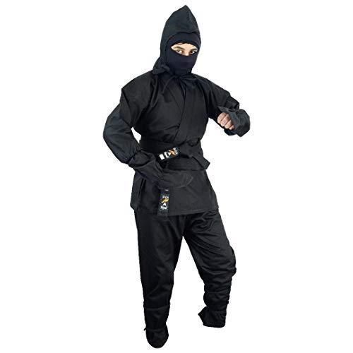 Playwell Martial Arts Ninja-Anzug, Schwarz