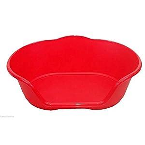 LY Tools Hundebett/Katzenbett, Kunststoff, Größe XL, Rot