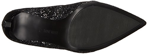 Nine West Tatiana Pompe Robe synthétique Black Glitter
