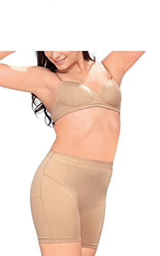 Smilzo Women's Full Thigh Panty (SLT/5508_Nude_XXXX-Large)