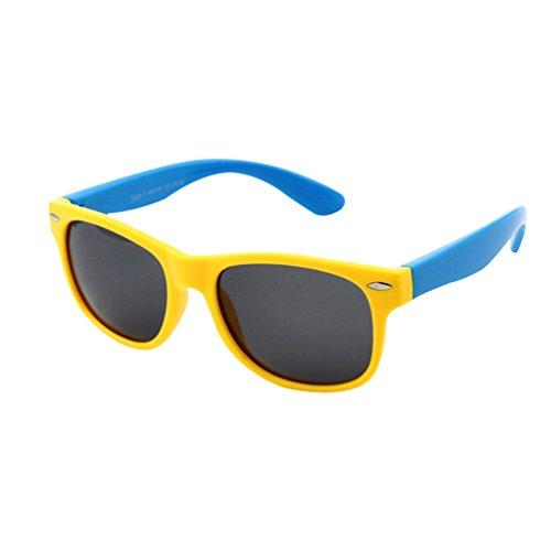 Vbiger occhiali da sole polarizzati per bimbi e bambini, giallo