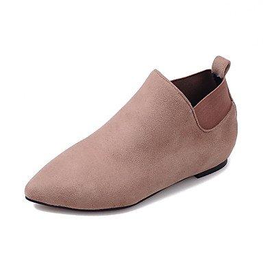 Wuyulunbi@ Scarpe Donna Autunno E Inverno Moda Stivali Stivali Scarpe Piatte Tip Toe Stivali / Stivaletti Gore Gonna Casual Noi10.5 / EU42 / UK8.5 / CN43