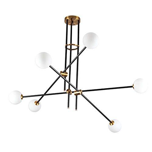DAWANG Mobile Kronleuchter, Leuchte 6 Lichter, Messing Moderne Deckenleuchten, Mid Century Pendelleuchten für Schlafzimmer Flur Bar Küche Esszimmer Wohnzimmer -