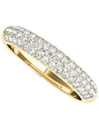 Timeless CZ Wedding Band For Women in 14K Yellow Gold