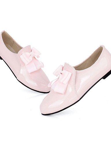 ZQ hug Scarpe Donna-Ballerine-Ufficio e lavoro / Formale / Casual-Comoda-Piatto-Vernice-Nero / Rosa / Tessuto almond , pink-us8 / eu39 / uk6 / cn39 , pink-us8 / eu39 / uk6 / cn39 pink-us6 / eu36 / uk4 / cn36