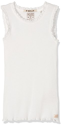 Scotch & Soda R´Belle Mädchen Basic Rib Tank with lace Top, Beige (Off White 001), 176 (Herstellergröße: 16) -