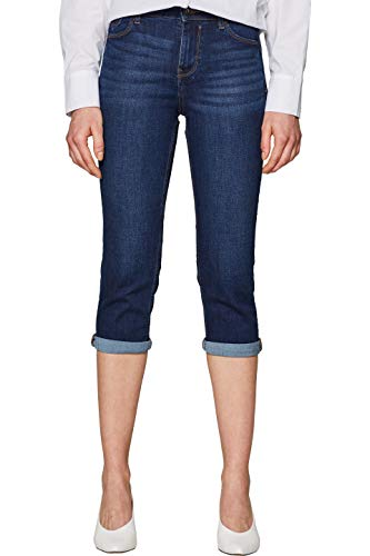 edc by ESPRIT Damen 039CC1B030 Straight Jeans Blau (Blue Dark Wash 901) W34 (Herstellergröße: 34)