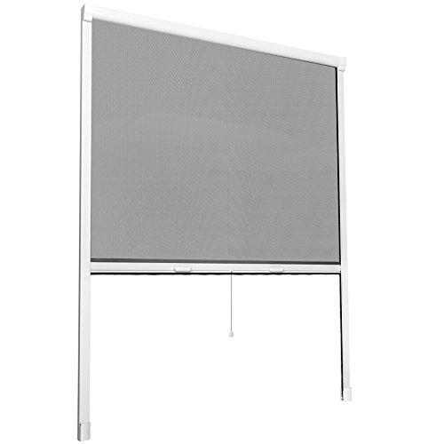 TecTake Insektenschutzrollo Fliegengitter Rollo Aluminium - diverse Größen - (110x160cm | Nr. 402062)