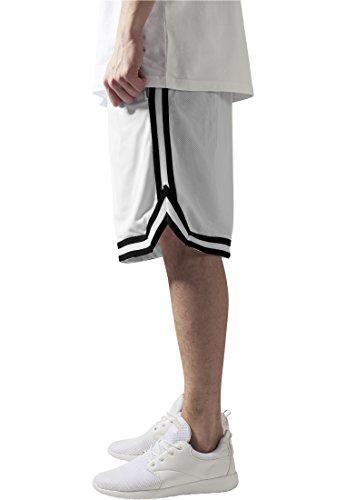 Urban Classics TB243 Herren Shorts Stripes Mesh whtblkwht