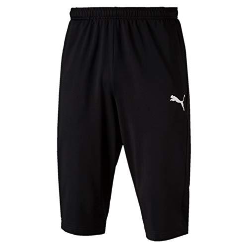 Puma Erwachsene Liga Training 3/4 Pants Kurze Hose, Black White, XXL
