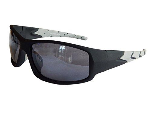 Sportbrille Sonnenbrille Fahrradbrille Black Motorradbrille Radbrille Snowboard M 22 (Schwarz Grau)