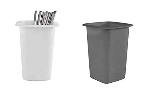 Couverts Carquois en mélamine, empilable et passe au lave-vaisselle/12 x 12 x 16 cm, en blanc ou noir   SUN Weiß