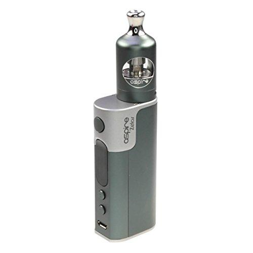 Aspire Zelos Kit 50 W / 2500 mAh, mit Nautilus 2 Clearomizer 2 ml, Riccardo e-Zigarette, grau