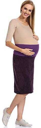 Be Mammy Jupe de Maternité Femme GX206 Prune