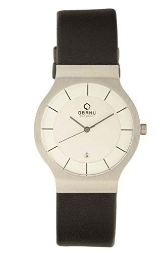 Obaku Harmony - V133G CIRB - Montre Homme - Quartz - Analogique - Bracelet cuir Noir