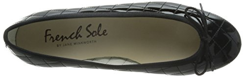 French Sole He117, Ballerines femme Noir - Black HE117