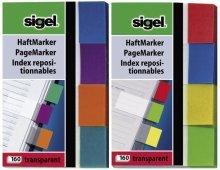 10 X sigel Haftmarker 20x50 transparent MINT/ORANGE/VIOLETT/TÜRKIS HN 671