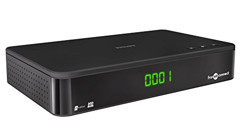 Philips TNT Fransat Connect DSR3331F - Receptor de TV HD por satélite, TDT, negro