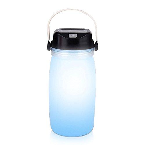 Laterne USB wiederaufladbar Taschenlampe Multifunktional Silikon Wasser Flasche Taschenlampe (Papier Laternen Bulk)