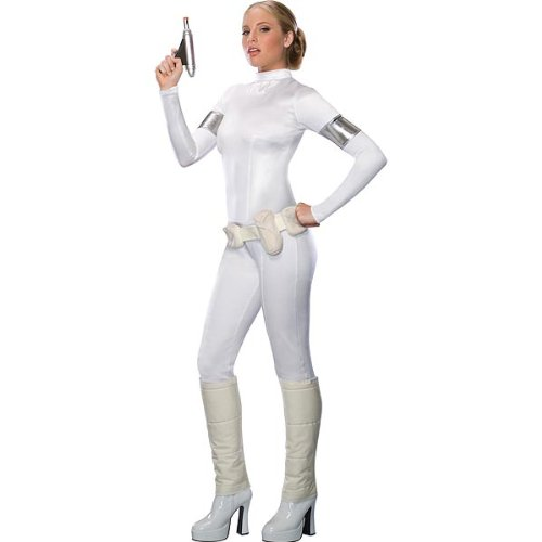 Star Wars Padme Amidala Damenkostüm Overall Weiss - Größe XS (Padme Weiße Kostüm)