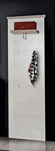 Garderobenpaneel Duro Wandpaneel, Pinie weiß/Eiche antik von Forte
