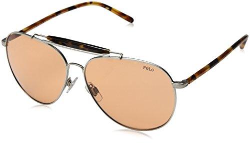 Polo Ralph Lauren Herren 0Ph3106 932674 60 Sonnenbrille, Silber (Aged/Vintage Orange)