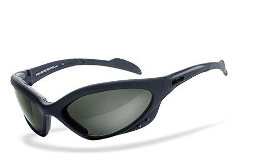 Curv Z rembourré pour moto/motard compatible avec lunettes de soleil Jaune avec étui gratuit JytVt